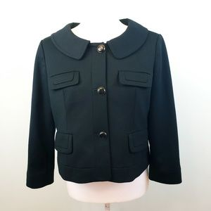 LOFT black crop button down blazer Sz 10